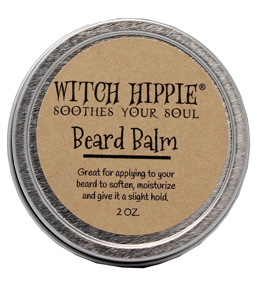 Witch Hippie 2oz. Natural Bees Wax Beard Balm - Softens and Gives a Slight Hold