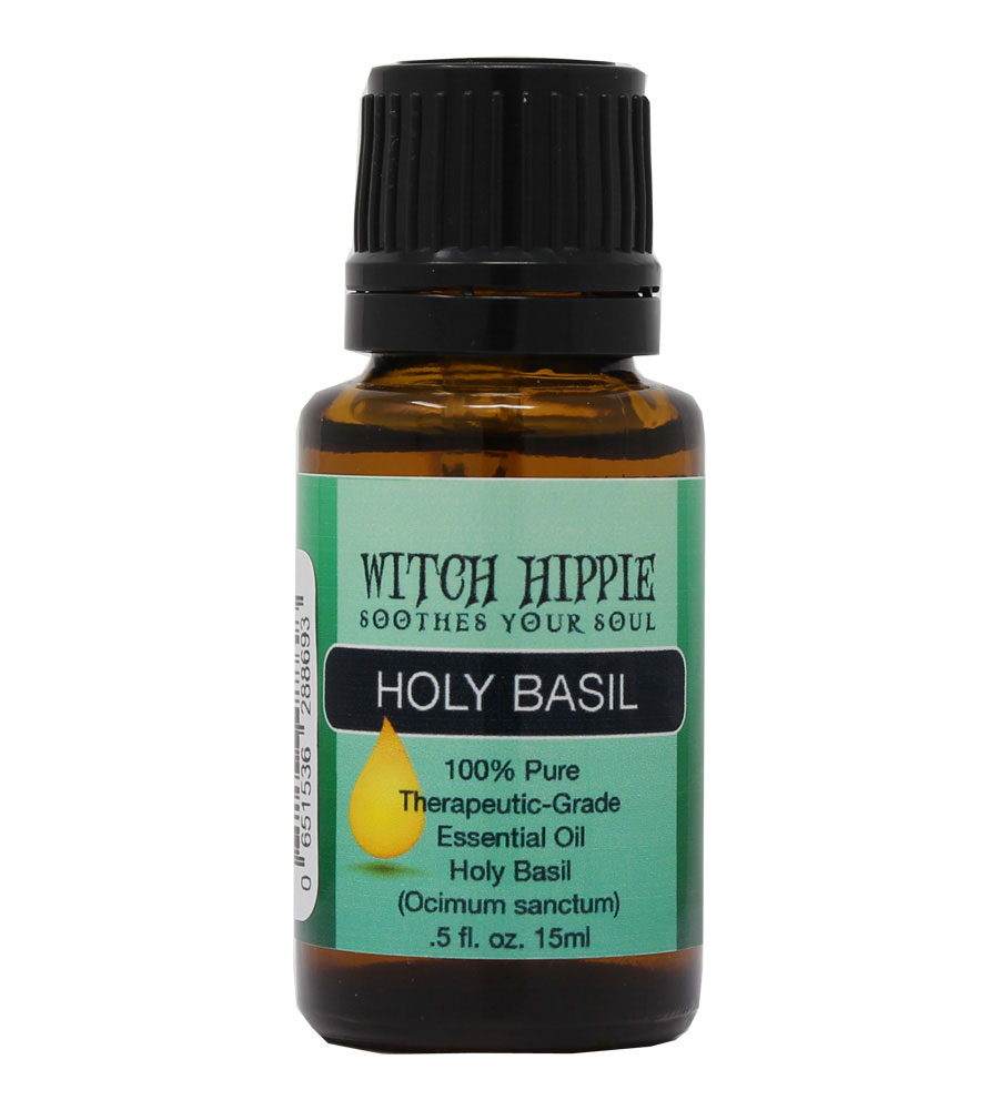 Witch Hippie Basil (Holy) 100% Therapeutic-Grade Essential Oil 15ml