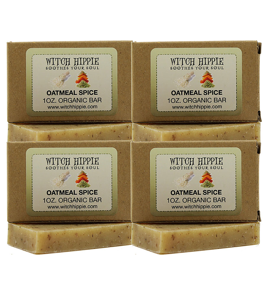 Witch Hippie 1oz Organic TRAVEL SIZE Bar Soaps (4 PACK)