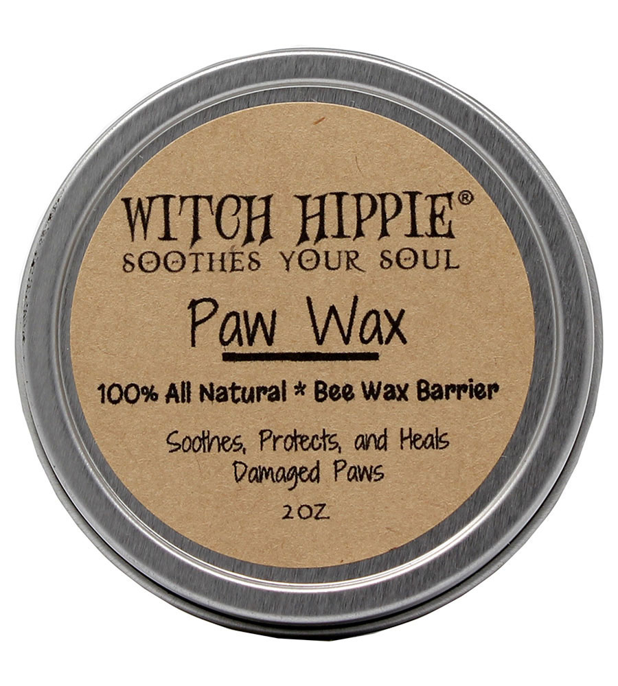 Witch Hippie 2oz. Natural Bees Wax Paw & Snout Barrier - Soothes, Protects and Heals Damaged Paws & Snouts